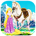 Rapunzel riding horse : free games