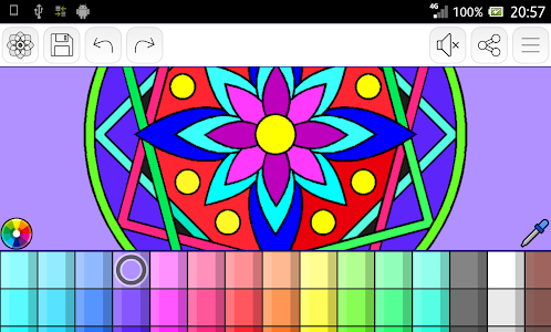 screenshot of Mandalas coloring pages (+200 free templates) version 1.1.4