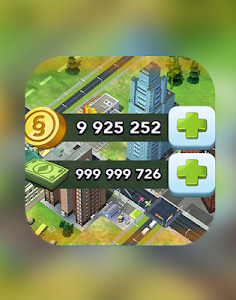 screenshot of Simoleons and Simcash for SimCity BuildIt prank version 2.0