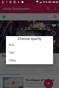 screenshot of Social video download version 1.0