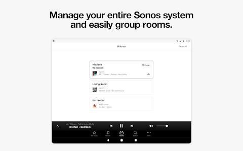 screenshot of Sonos Controller for Android version Varies with device