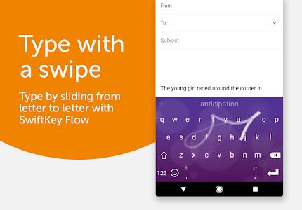 screenshot of SwiftKey Keyboard version 7.2.1.17