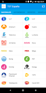 screenshot of TDT España version 1.9