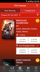 screenshot of TGV Cinemas version 2.0.2