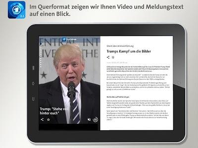 screenshot of Tagesschau version 2.1