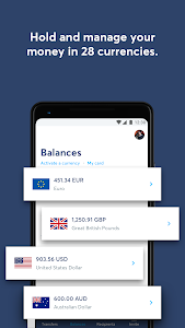 screenshot of TransferWise Money Transfer version Varies with device