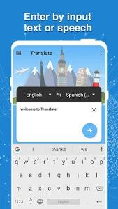 screenshot of Translate All - Speech Text Translator version 1.2.2