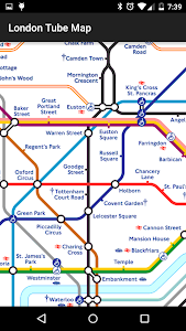 screenshot of Tube Map: London Underground version 3.2.6