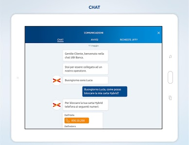screenshot of UBI Banca version Varies with device