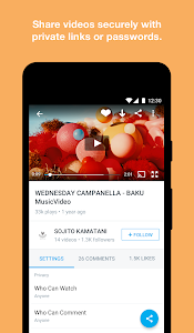 screenshot of Vimeo version Varies with device