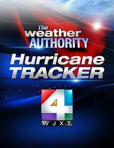 screenshot of WJXT - Hurricane Tracker version '3.2'