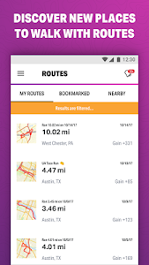 screenshot of Walk with Map My Walk version 18.12.0