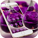 Download Water Drop Rose Purple Theme 1.1.5 APK
