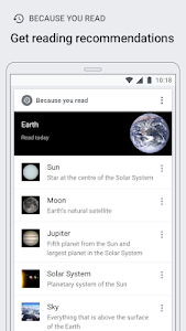 screenshot of Wikipedia version Varies with device
