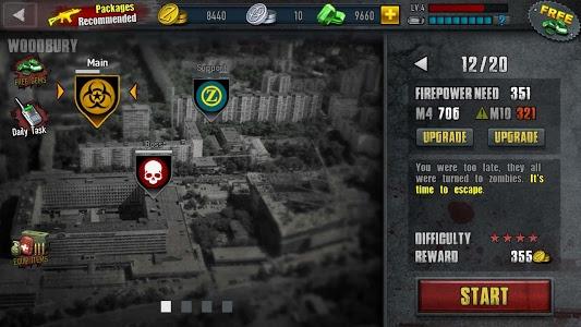 screenshot of Zombie Frontier 3 version 1.58