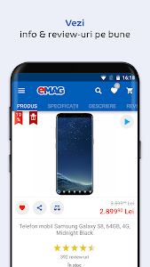 screenshot of eMAG.ro version 2.2.5